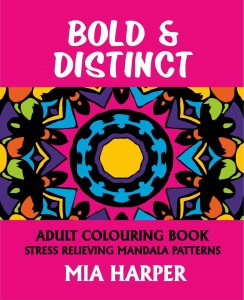 Bold & Distinct Adult Colouring Book Cvr