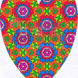 Adult colouring books D1P61Heart