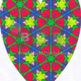 Adult coloring books D4P37 Heart
