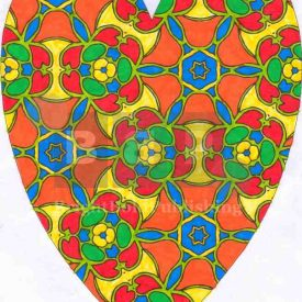 Colouring books for grown-ups D4P57 Heart