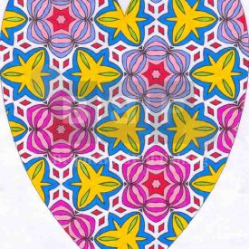 Adult coloring books D5P23 Heart