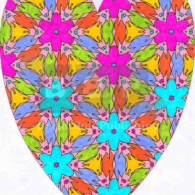 Adult coloring books D5P55 Heart